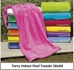Terr Velour Pool Towels 30 x 60