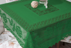 Lace Table Cloth Green